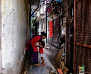 Vicoli del quartiere dei pescatori di Mumbai