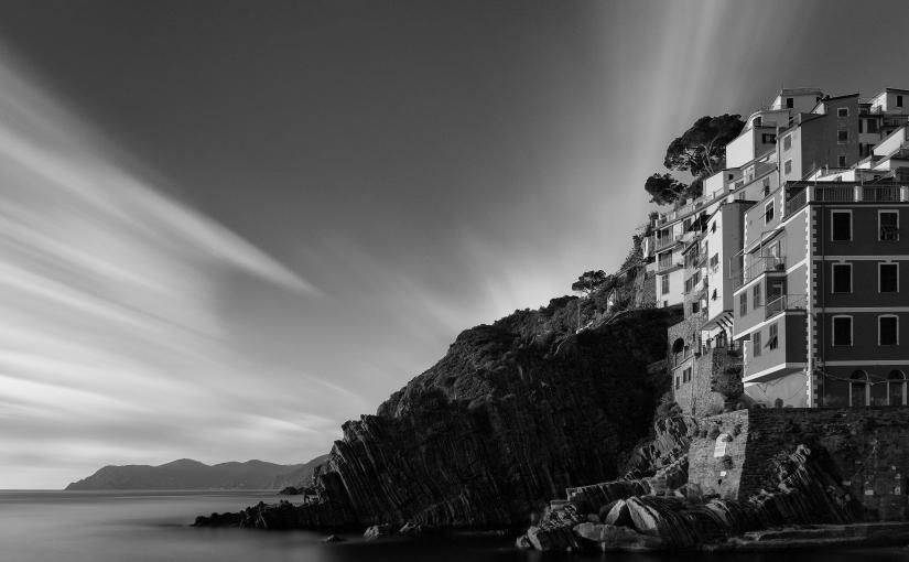 Cinque Terre in bianco enero