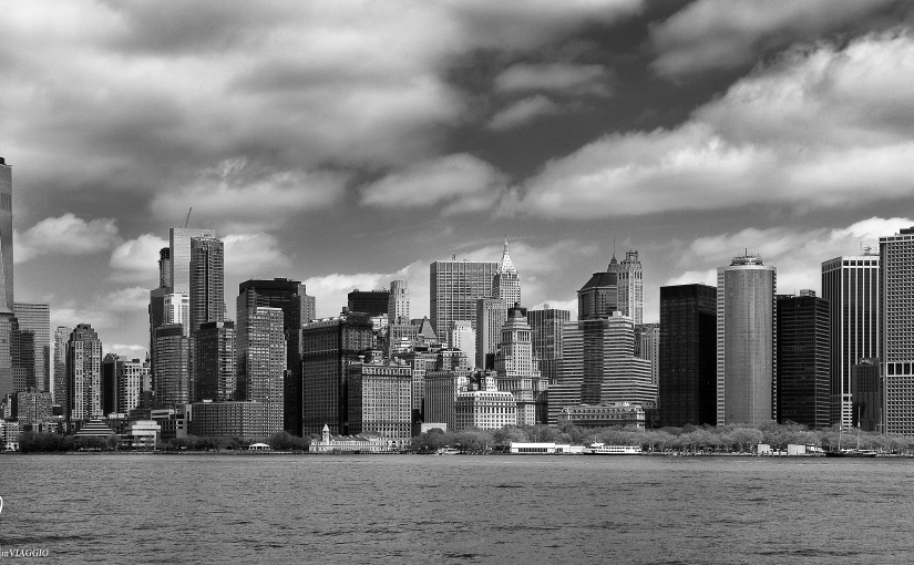 Manhattan in bianco enero